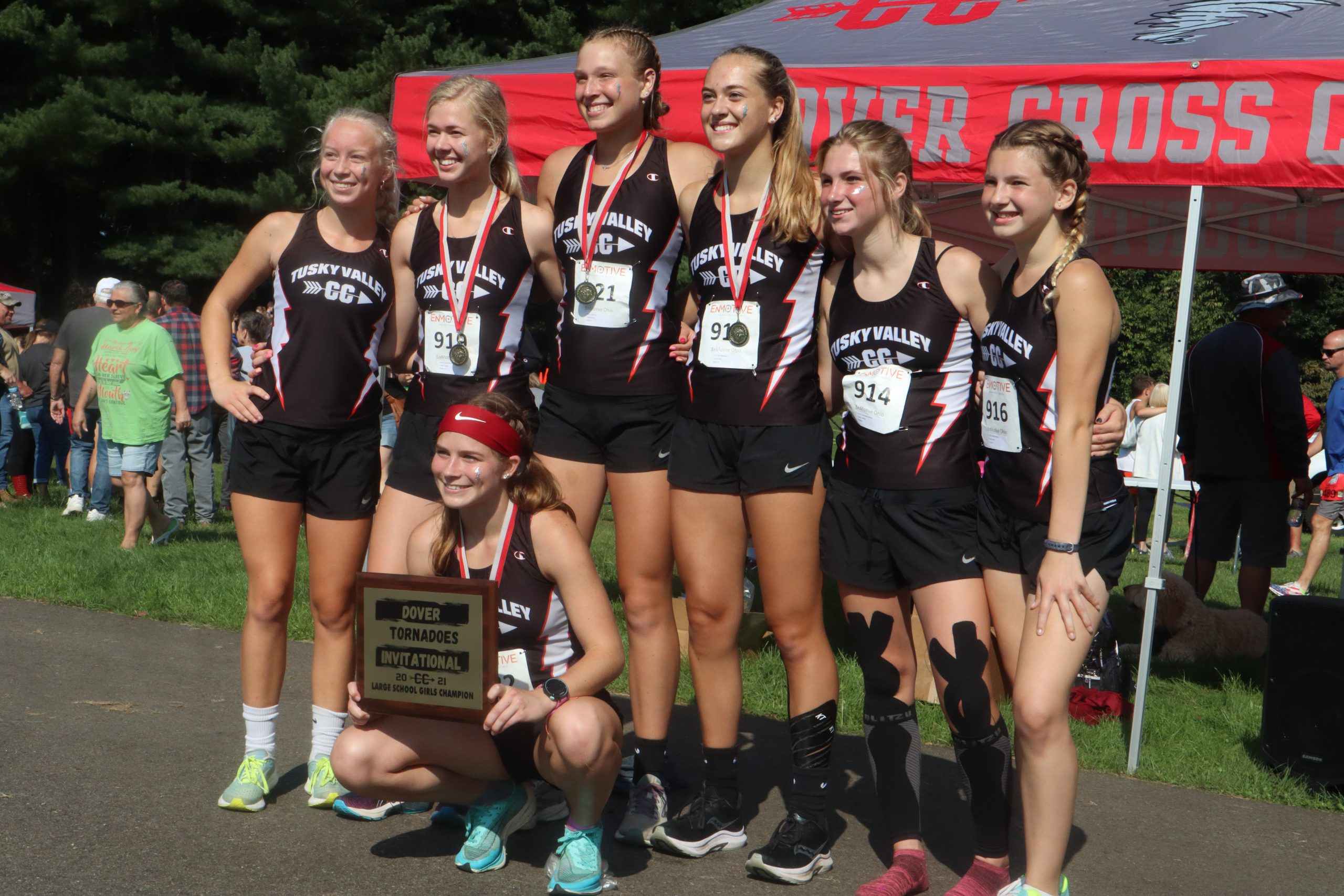 Tuscarawas Valley's girls cross country team won the Dover Invitational race on Saturday at Dover City Park - led by Hannah Wyler's individual medalist performance.